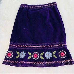 Boston Proper Purple Boho Style Skirt Sz 8